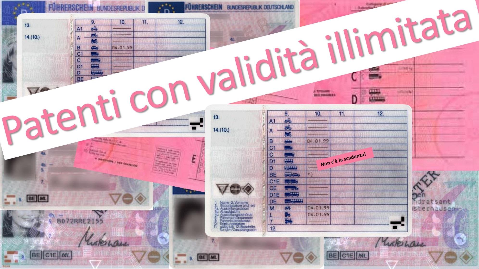 patenteonline - cittadino europeo ma con patente a validità